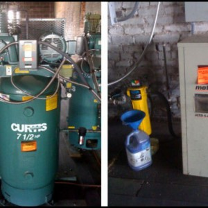 TWO CURTIS AIR COMPRESSORS